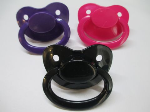 Shades of Goth Mix and Match Large Shield/Teat Trio Pacifiers Set